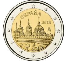 Испания 2 евро 2013. ЮНЕСКО - Монастырь Эскориал
