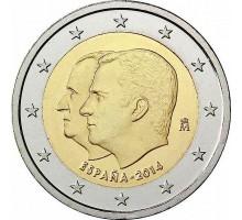 Испания 2 евро 2014. Король Филипп VI