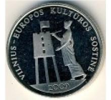 Литва 1 лит 2009. Вильнюс – культурная столица Европы