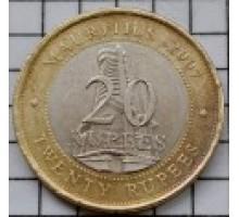 Маврикий 20 рупий 2007. 40 лет Банку Маврикия
