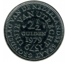 Нидерланды 2 1/2 гульдена 1979. 400 лет Утрехтской унии