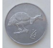 Северная Корея 1/2 чона 2002. Мир животных - Цесарка