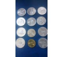 Северная Корея 2002. Набор 12 монет. Животные, техника
