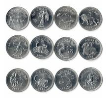 Сомалиленд 10 шиллингов 2006. Знаки зодиака. Набор 12 монет