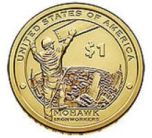 США 1 доллар 2015. Сакагавея Индианка, Высотники