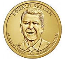 США 1 доллар 2016. 40 президент Рональд Рейган