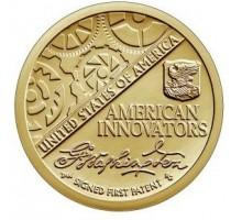 США 1 доллар 2018. Американские Инновации. Первый патент