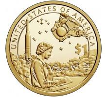 США 1 доллар 2019. Коренные Американцы - Индейцы в космической программе