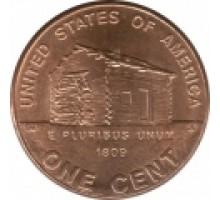США 1 цент 2009. 200 лет со дня рождения Авраама Линкольна - Детство в Кентукки