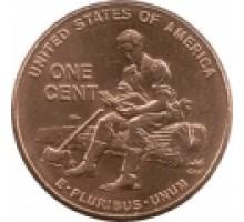 США 1 цент 2009. 200 лет со дня рождения Авраама Линкольна - Юность в Индиане