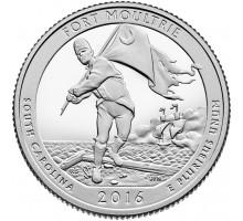 США 25 центов 2016. 35-й парк Форт Молтри