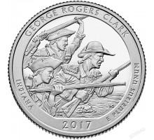 США 25 центов 2017. 40-й парк Национальный исторический парк имени Дж.Р.Кларка