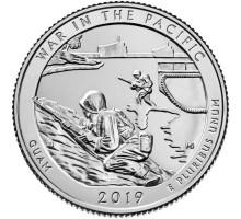 США 25 центов 2019. 48-й парк. Национальный монумент воинской доблести в Тихом океане