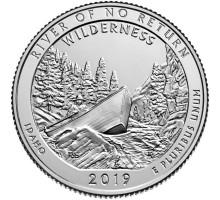 США 25 центов 2019. 50-й парк. Дикая местность - Река Фрэнк Черч