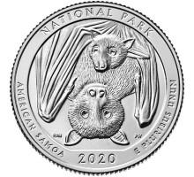 США 25 центов 2020. 51-й парк. Национальный парк Американского Самоа