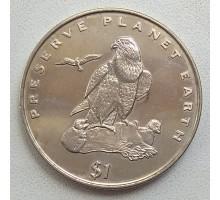 Эритрея 1 доллар 1996. Берегите планету Земля - Средиземноморский сокол