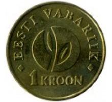 Эстония 1 крона 2008. 90 лет Эстонской республики