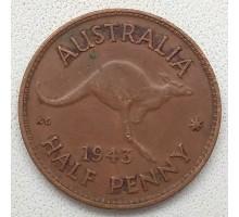Австралия 1/2 пенни 1943