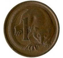 Австралия 1 цент 1966-1984
