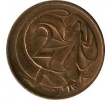Австралия 2 цента 1966-1984