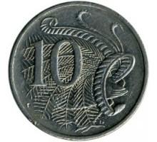 Австралия 10 центов 1985-1998