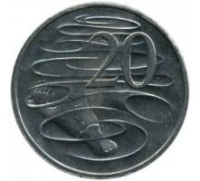 Австралия 20 центов 1999-2017