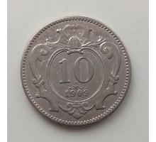 Австрия 10 геллеров 1909