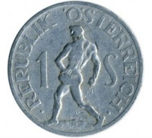 Австрия 1 шиллинг 1946-1957