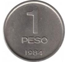 Аргентина 1 песо 1984