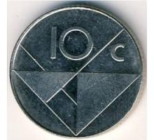 Аруба 10 центов 1986-2018