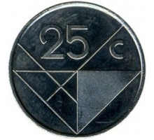 Аруба 25 центов 1986-2019
