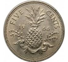Багамы 5 центов 1966-1970