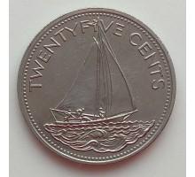 Багамы 25 центов 1991-2005