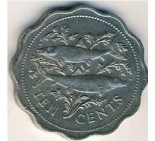 Багамы 10 центов 1974-2005