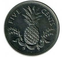 Багамы 5 центов 1974-2006