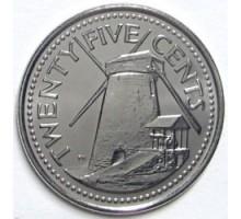 Барбадос 25 центов 2007-2011