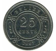 Белиз 25 центов 1974-2017