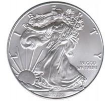США 1 доллар 2018 Шагающая Свобода серебро