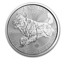 Канада 5 долларов 2018. Волк. Серебро