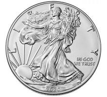 США 1 доллар 2020. Шагающая Свобода. Серебро