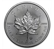 Канада 5 долларов 2020. Кленовый лист. Серебро