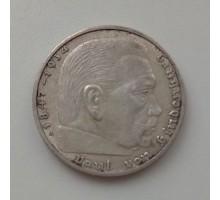 Германия 2 рейхсмарки 1938 A. Серебро