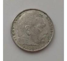 Германия 2 рейхсмарки 1938 B. Серебро