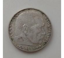 Германия 2 рейхсмарки 1938 D. Серебро