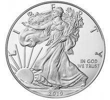 США 1 доллар 2019. Шагающая Свобода. Серебро