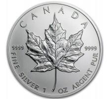 Канада 5 долларов 2013. Кленовый лист. Серебро