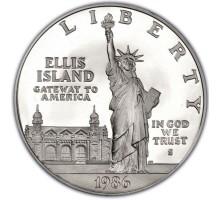 США 1 доллар 1986. 100 лет Статуе Свободы. Серебро