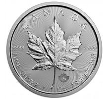 Канада 5 долларов 2019. Кленовый лист. Серебро