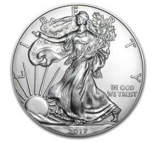 США 1 доллар 2017 Шагающая Свобода серебро