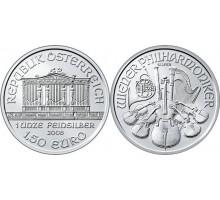 Австрия 1,5 евро 2017. Венская филармония. Серебро